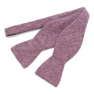 "Rustic Plum Chambray Bow - General Knot & Co. ,  Self-Tied Classic Bow Tie 2.5"" at Widest - Neckwear and travel bags"