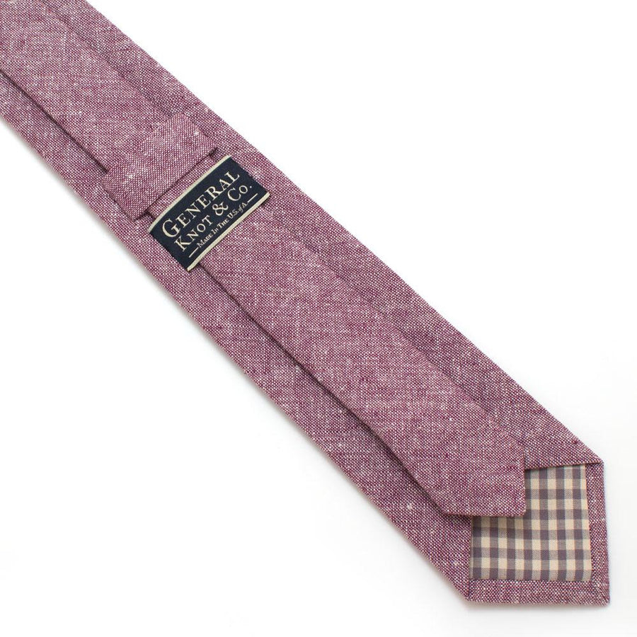 "Rustic Plum Chambray Necktie - General Knot & Co. ,  Classic Necktie 2 7/8"" x 58"" - Neckwear and travel bags"