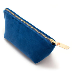 Sapphire Velvet Travel Clutch - General Knot & Co. ,  Bags - Neckwear and travel bags