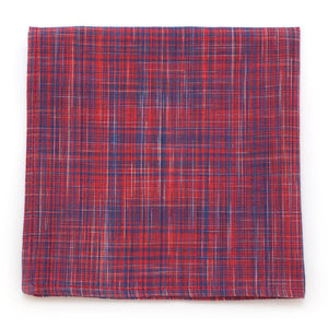 "Scarlet Homespun Square - General Knot & Co. ,  Squares 13""x13"" - Neckwear and travel bags"