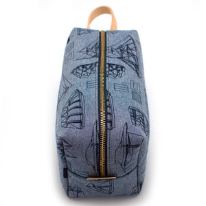 Ship to Shore Chambray Travel Kit - General Knot & Co. ,  Bags - Neckwear and travel bags