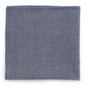 "Smoke Blue Chambray Square - General Knot & Co. ,  Squares 13""x13"" - Neckwear and travel bags"