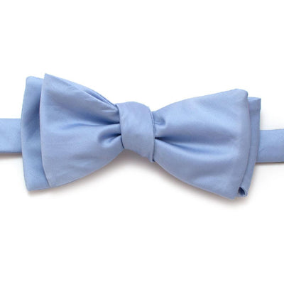 "Soft Cornflower Formal Classic Bow - General Knot & Co. ,  Self-Tied Classic Bow Tie 2.5"" at Widest - Neckwear and travel bags"
