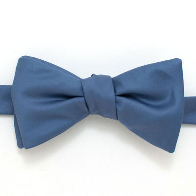 "Steel Formal Classic Bow - General Knot & Co. ,  Self-Tied Classic Bow Tie 2.5"" at Widest - Neckwear and travel bags"
