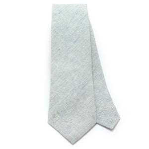 "Steel Homespun Chambray Necktie - General Knot & Co. ,  Classic Necktie 2 7/8"" x 58"" - Neckwear and travel bags"