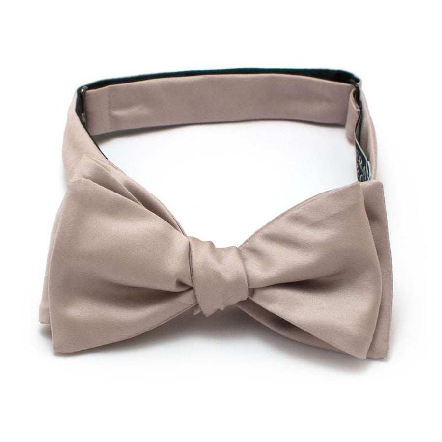 "Stone Formal Classic Bow - General Knot & Co. ,  Self-Tied Classic Bow Tie 2.5"" at Widest - Neckwear and travel bags"