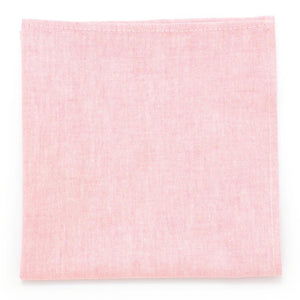 "Sun Washed Pink Chambray Square - General Knot & Co. ,  Squares 13""x13"" - Neckwear and travel bags"