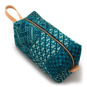 Thai Blue Geo Travel Kit - General Knot & Co. ,  Bags - Neckwear and travel bags