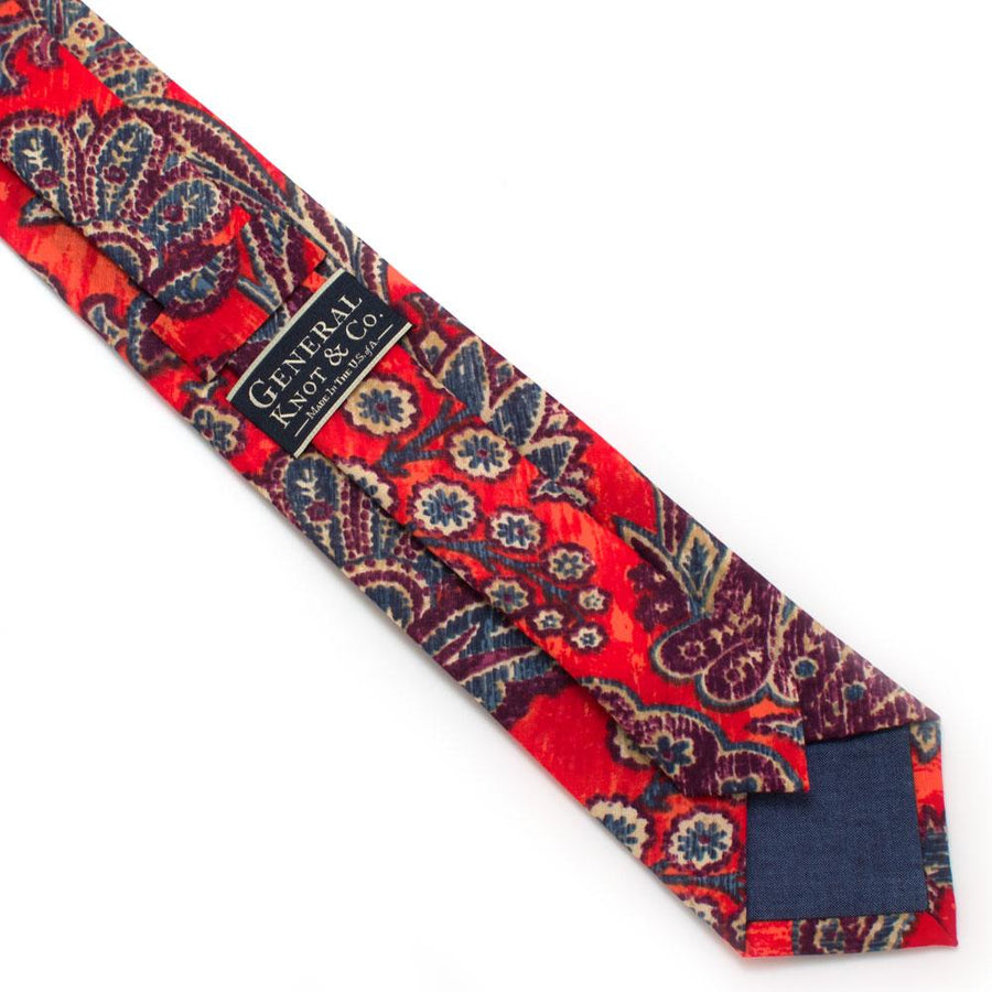 "Torino Paisley Necktie - General Knot & Co. ,  Classic Necktie 2 7/8"" x 58"" - Neckwear and travel bags"