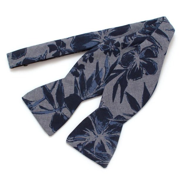 "Tropical Chambray Classic Bow Self-Tied Classic Bow Tie 2.5"" at Widest General Knot & Co."