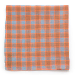 "Vintage 1940s Foggy Sherbert Check Square - General Knot & Co. ,  Squares 13""x13"" - Neckwear and travel bags"