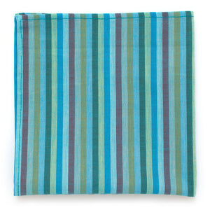 "Vintage Beach Glass Stripe Square - General Knot & Co. ,  Squares 13""x13"" - Neckwear and travel bags"