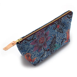 Vintage Blue Balinese Tropical Travel Clutch - General Knot & Co. ,  Bags - Neckwear and travel bags