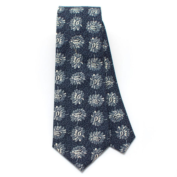 "Vintage Cactus Flower Necktie - General Knot & Co. ,  Classic Necktie 2 7/8"" x 58"" - Neckwear and travel bags"