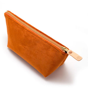 Vintage Carrot Velvet Travel Clutch - General Knot & Co. ,  Bags - Neckwear and travel bags