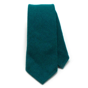 "Vintage Emerald Wool Necktie - General Knot & Co. ,  Classic Necktie 2 7/8"" x 58"" - Neckwear and travel bags"