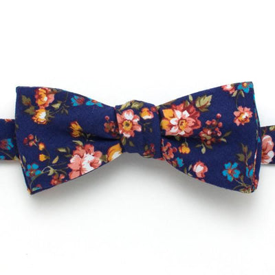 "Vintage English Rose Classic Bow Tie - General Knot & Co. ,  Self-Tied Classic Bow Tie 2"" at Widest - Neckwear and travel bags"