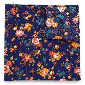 "Vintage English Rose Pocket Square - General Knot & Co. ,  Squares 13""x13"" - Neckwear and travel bags"