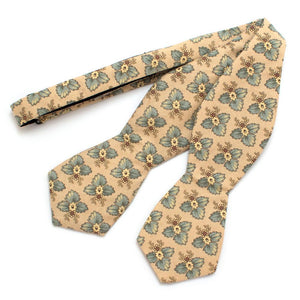 "Vintage Federalist Floral Diamond Point Bow - General Knot & Co. ,  Self-Tied Diamond Point Bow 2.5"" at widest - Neckwear and travel bags"