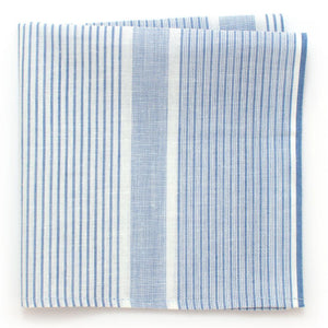 "Vintage French Country Stripe Pocket Square - General Knot & Co. ,  Squares 13""x13"" - Neckwear and travel bags"