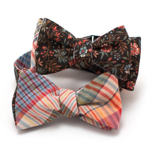 "Vintage Gentry Garden Reversible Bow - General Knot & Co. ,  Self-Tied Classic Bow Tie 2.5"" at Widest - Neckwear and travel bags"