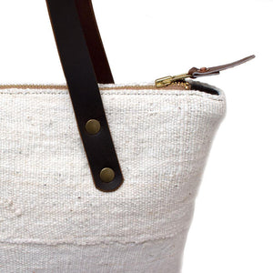 Vintage Ivory Mudcloth Portfolio Tote - General Knot & Co. ,  Bags - Neckwear and travel bags