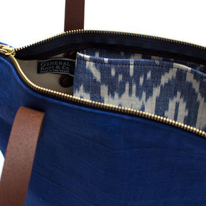 Vintage Marine African Shibori Portfolio Tote - General Knot & Co. ,  Bags - Neckwear and travel bags