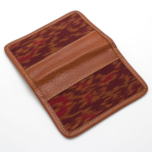 Vintage Oxblood Ikat Card Case - General Knot & Co. ,  Wallet - Neckwear and travel bags