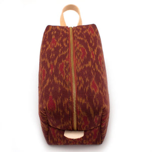 Vintage Oxblood Ikat Travel Kit - General Knot & Co. ,  Bags - Neckwear and travel bags