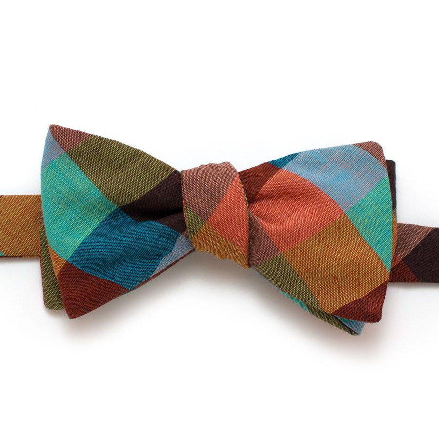 "Vintage Painted Desert Check Bow- Available to ship 10/4 - General Knot & Co. ,  Self-Tied Classic Bow Tie 2.5"" at Widest - Neckwear and travel bags"