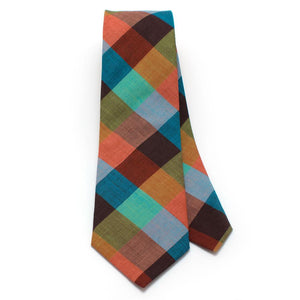 "Vintage Painted Desert Check Necktie - General Knot & Co. ,  Classic Necktie 2 7/8"" x 58"" - Neckwear and travel bags"
