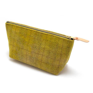 Vintage Peridot Wool Plaid Makeup Bag - General Knot & Co. ,  Women's Carryalls - Neckwear and travel bags