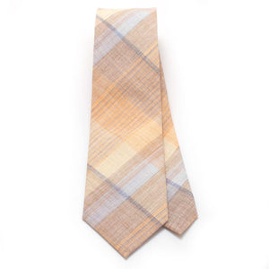"Vintage Sand Hill Plaid Necktie - General Knot & Co. ,  Classic Necktie 2 7/8"" x 58"" - Neckwear and travel bags"