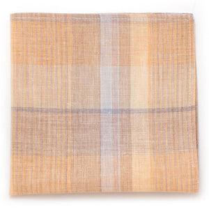 "Vintage Sand Hill Plaid Square - General Knot & Co. ,  Squares 13""x13"" - Neckwear and travel bags"