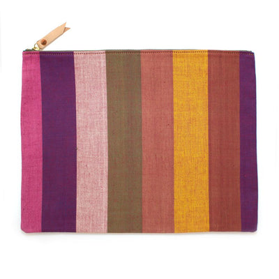 Vintage Silk Road Stripe Laptop Sleeve/Carryall - General Knot & Co. ,  Bags - Neckwear and travel bags