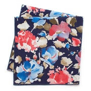 Vintage Watercolor Floral/ Chambray Double-Sided Bandana - General Knot & Co. ,  Squares - Neckwear and travel bags