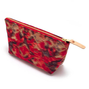 Warm Indian Ikat Makeup Bag - General Knot & Co. ,  Women's Carryalls - Neckwear and travel bags