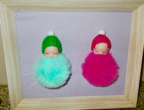 Touch and Feel Babies - Pink & Green