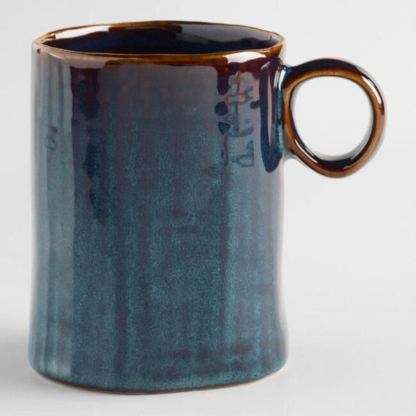 Indigo Organic Reactive Glaze Mugs, Set of 2