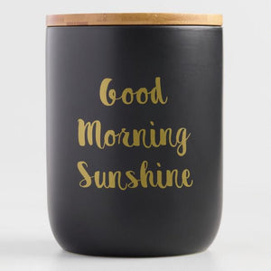 Good Morning Sunshine Ceramic Coffee Canister