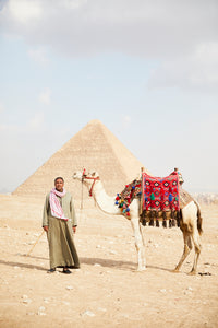 Camel & Owner, Pyramids of Giza, Egypt