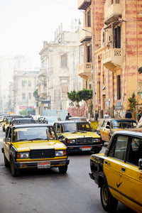 Yellow Taxis, Alexandria, Egypt