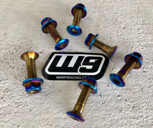 TITANIUM SPROCKET BOLT SET BY WARP 9