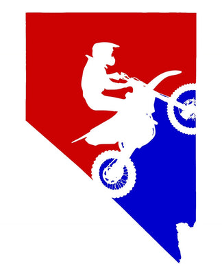 TACO MOTO CO DIRT BIKE NEVADA STICKER