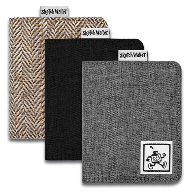 SKETCH WALLET CANVAS OR TWEED SMALL