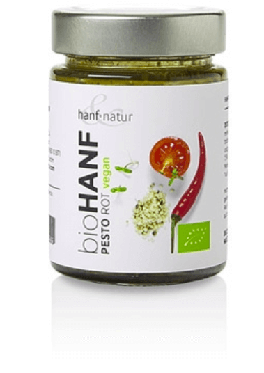 Rotes Hanf Pesto mit Chili von Hanf & Natur - Pesto - dropshop4you