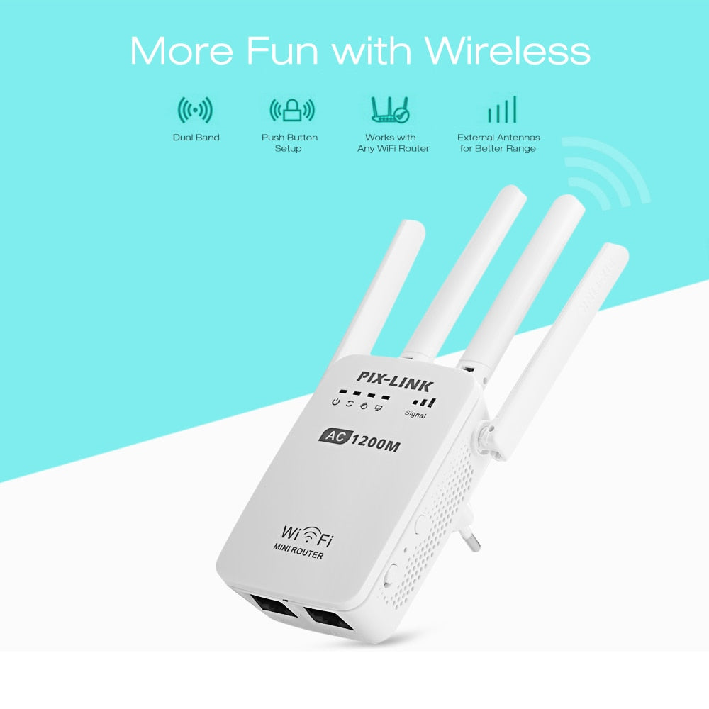 1200Mbps Wall Plug Routers Wi-Fi AP Wifi Repeater Router Extender