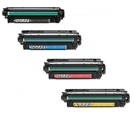 HP CM4540F BCMY Bundle Toner Cartridges Remanufactured