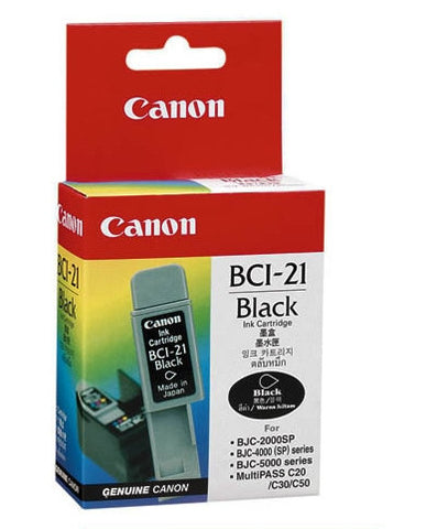 Canon Original BCI-21BK Black Ink Tank