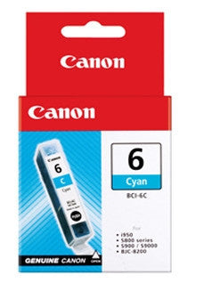 Canon BCI-6C genuine Cyan Ink Tank